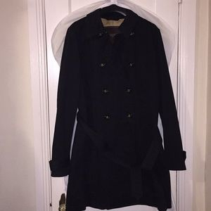 Coach Black Short Trench